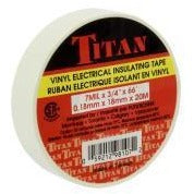 TITAN Vinyl Electrical Insulating Tape 18mm x 20m - White