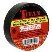 TITAN Vinyl Electrical Insulating Tape 18mm x 20m - Black