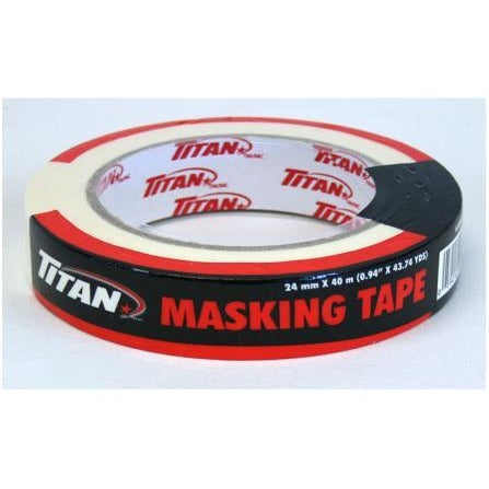 Titan Masking Tape - White, 24mm x 40m