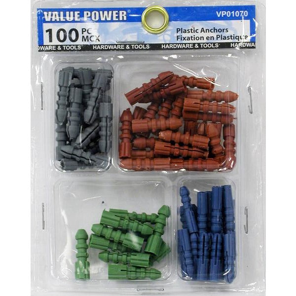 Anchor Wall Plastic 100 pieces/pack