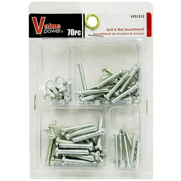 Bolt & Nut Assorted, 90/pack