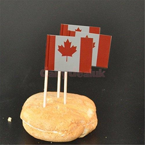 Canada Flag Cocktail Sticks, 60/pk