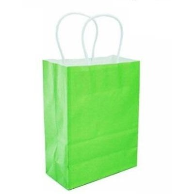 "Paper Favor Bags 8"" x 10"" - Green, 4/pack"