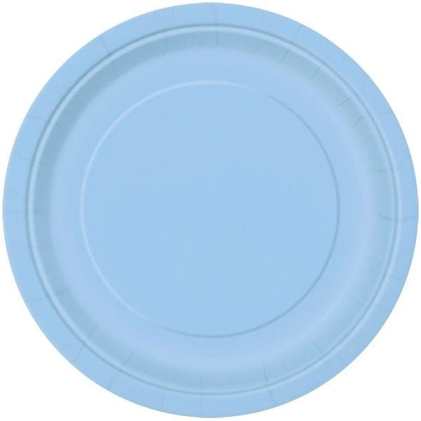 "7"" Powder Blue Paper Plates 8/pk"