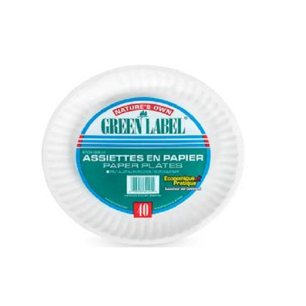 "Value Pack 9"" Paper Plates, 40/pk"