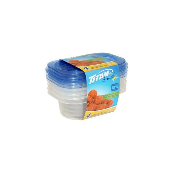 Snap Small Rectangular Food Containers 280ml, 2/pk