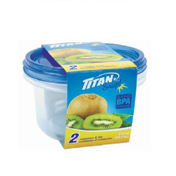Snap Round Food Containers 615ml, 2/pk