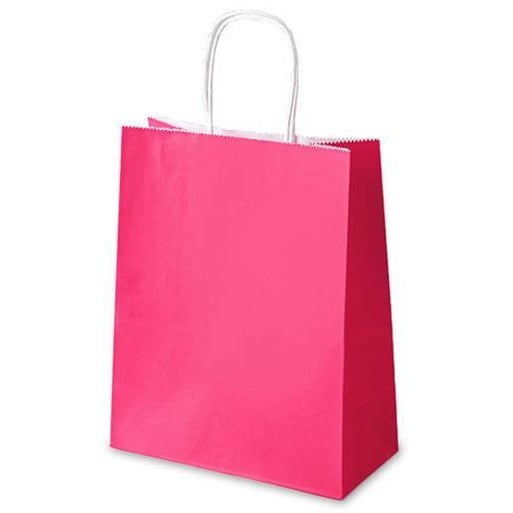 "Paper Favor Bags 8"" x 10"" - Pink, 4/pack"