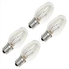 7W Night Light Bulbs Clear, 4/pk