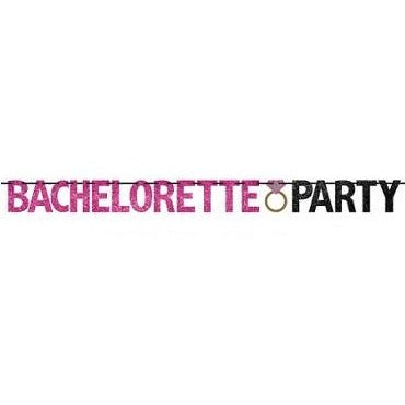 """Bachelorette Party"" Glitter Banner"