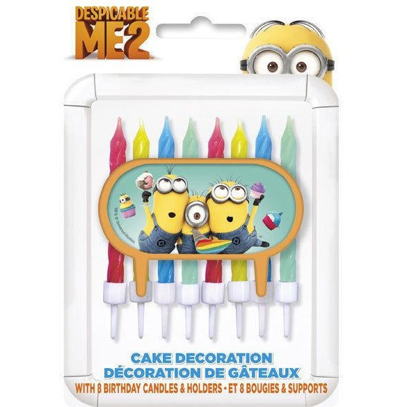 Birthday Candles & Holders - Minions 8/pk