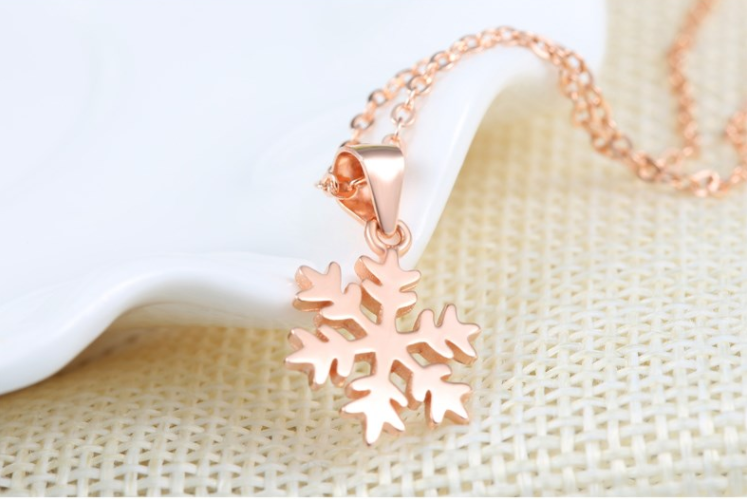 Rose Gold Snowflake