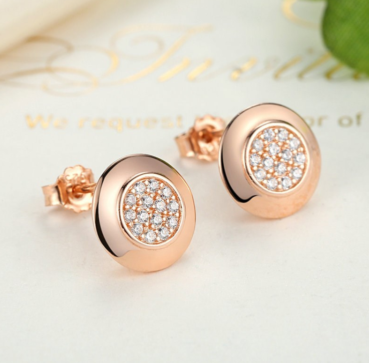 Rose Gold Studded Stars