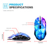2400DPI 7 Button Wired Diamond Gaming Mouse