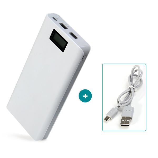 20000 mAh LCD Portable Power Bank Charger