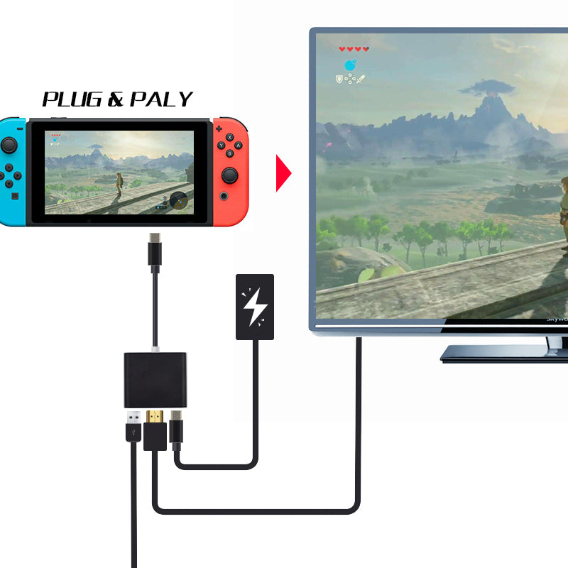 Nintendo Switch Adapter Hub - Dock Alternative