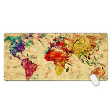 Large World Map Gaming Mouse Pads