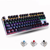 Mechanical USB Keyboard 87 keys Gaming Keyboards for Tablet and Desktop
