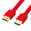 Gold Plated Plug Male-Male HDMI Cable Flat line short 1080p 3D