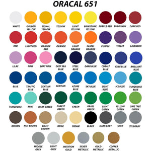 "Oracal 651 - 12""x24"" Sheets Oracal 651 Permanent Adhesive Vinyl"