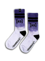 Brooklyn Striped Dip Dye Socks in Lavender