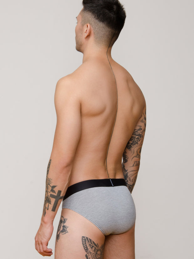 Platinum - Grey Modal Briefs (3 Pack)