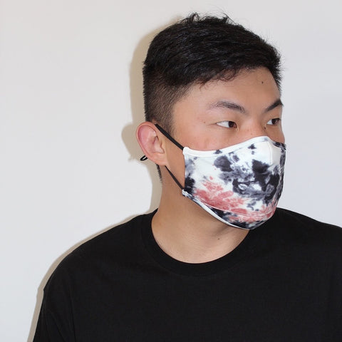 Scuba Dust Mask with Filters - Tie Dye Black