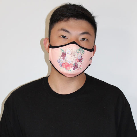 Scuba Dust Mask with Filters - Pink Floral