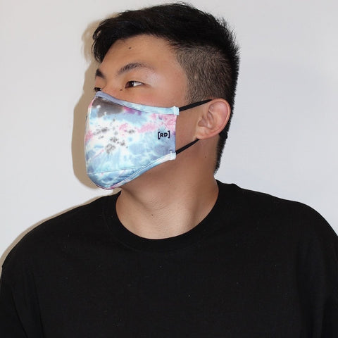 Scuba Dust Mask with Filters - Tie Dye Blue