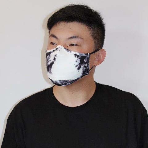 Scuba Dust Mask with Filters - Tie Dye White