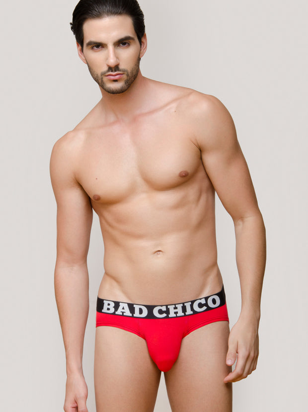 Red Alert - Red Modal Briefs (3 Pack)