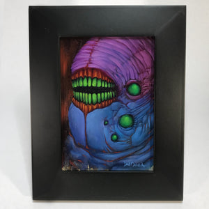 Original Oil Painting - Evil Bean