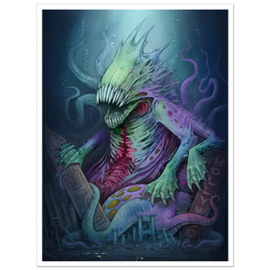 """The Deep One"" 18x24 Limited Edition Print"