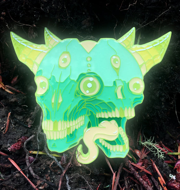 Mother Nature: Glow-in-the-dark Enamel Pin