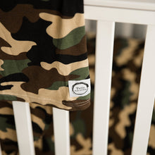 Organic Bamboo Crib Sheet - Camoflague