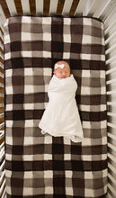 Organic Bamboo Crib Sheet - Black and White Check