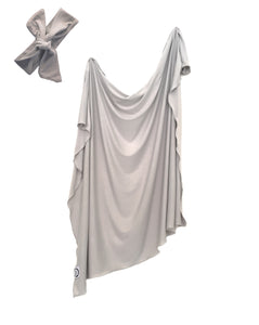 Organic Swaddle Blanket - Smoke Grey
