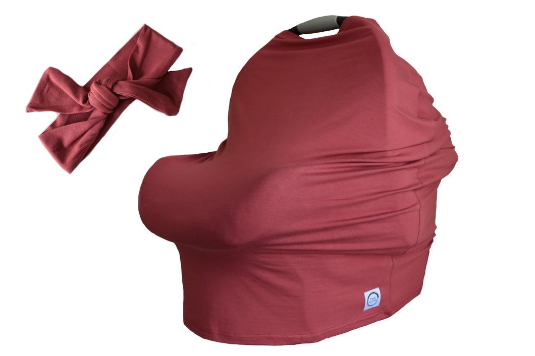 Organic Bamboo Multi-Use Cover - Silk Red