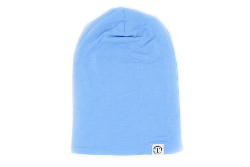 Organic Bamboo Slouch Beanie - Baby Blue