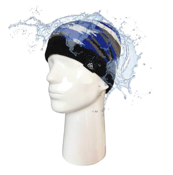 Waterproof beanie V-DRY - RAINSHELL CAMOUFLAGE Blue