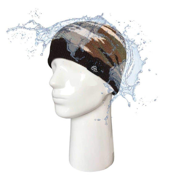 V-DRY - RAINSHELL CAMOUFLAGE Brown Waterproof Beanie