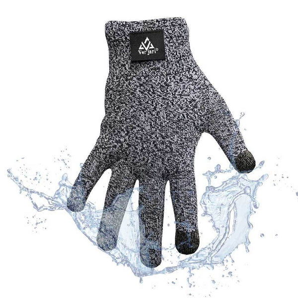 V-DRY-CLAW Grey Waterproof Short Gloves