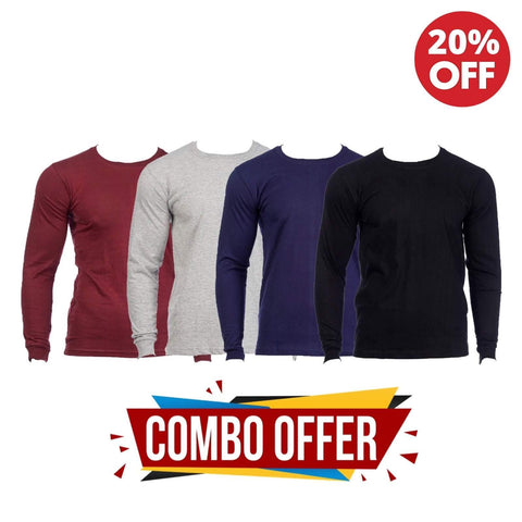 Pack Of 3 Solid T-Shirt For Men-(Black/Maroon/Navy)