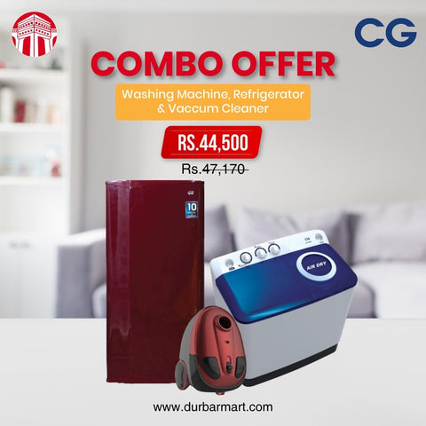 Combo offer refrigerator,washing machine,vaccum cleaner