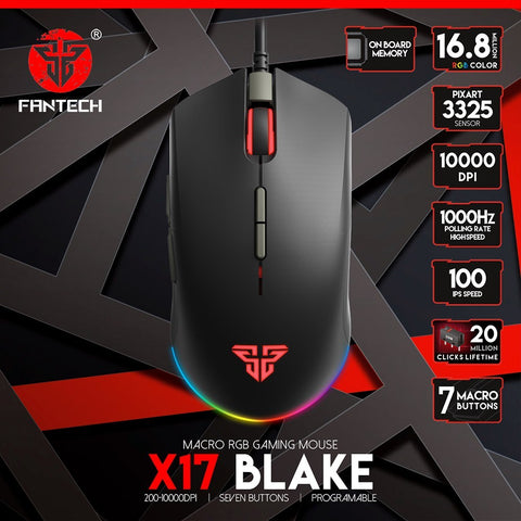 FANTECH X17 BLAKE Professional Wired Gaming Mouse price in nepal