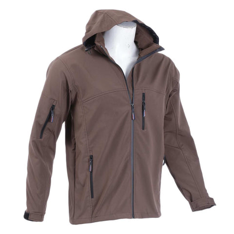 Brown Solid Softshell Jacket For Men price in nepal