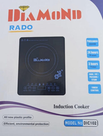Diamond Rado Induction Cooktop Touch Control 2000 Watt
