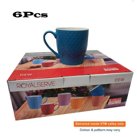 Ceramic Cup Set (6 Pcs) - Dew price in nepal