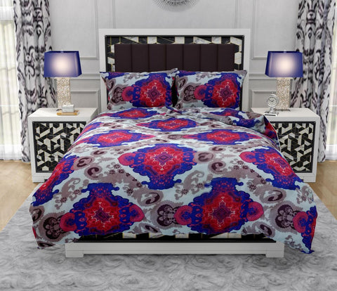 Printed Super Vela King Size Bed Sheet With 2 Pillow Covers