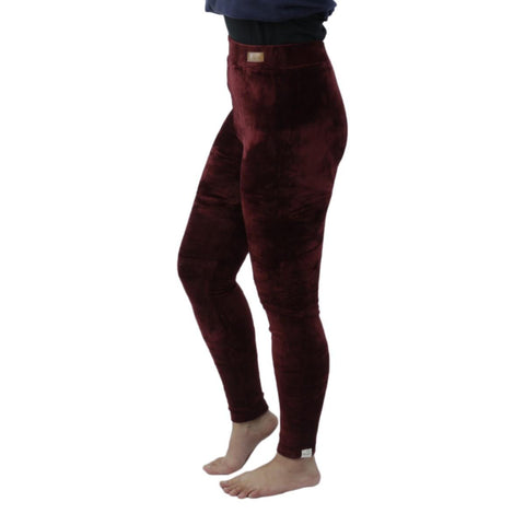 Combo Of 2 Soft Velvet Sweatpants For Ladies - Blue/Red